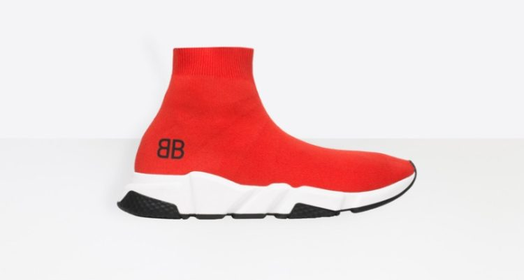 Balenciaga Tone on Tone Speed Trainers (Red)