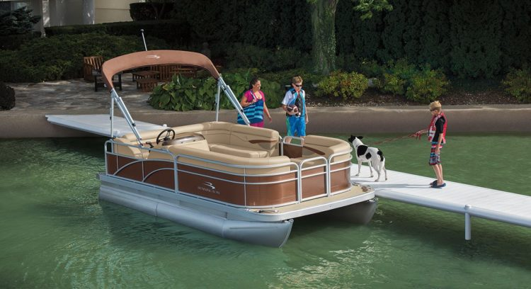 Bennington S168 8′ Narrow Beam Cruise Pontoon Boat