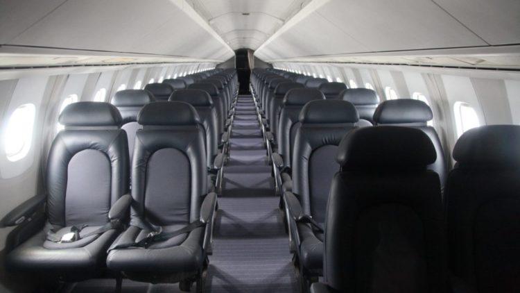 Concorde passenger cabin