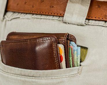 Credit cards in wallet in back pocket