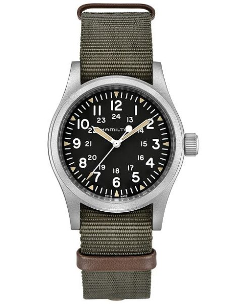 Hamilton Unisex Swiss Khaki Field Green Nato Strap Watch