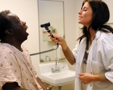 Nurse Practitioner giving an examination
