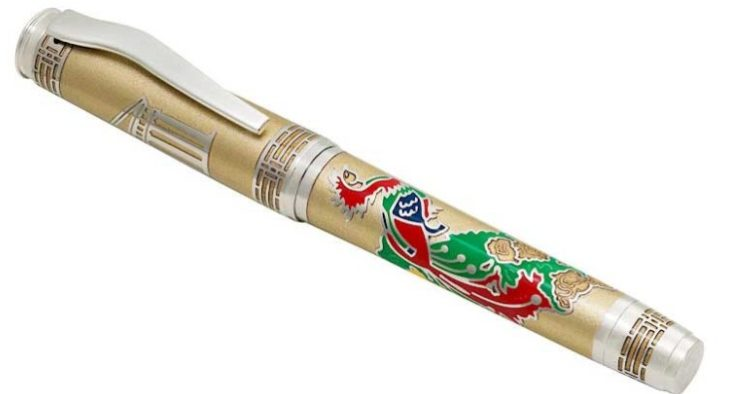 Omas Phoenix Platinum Fountain Pen Luxury Limited Edition