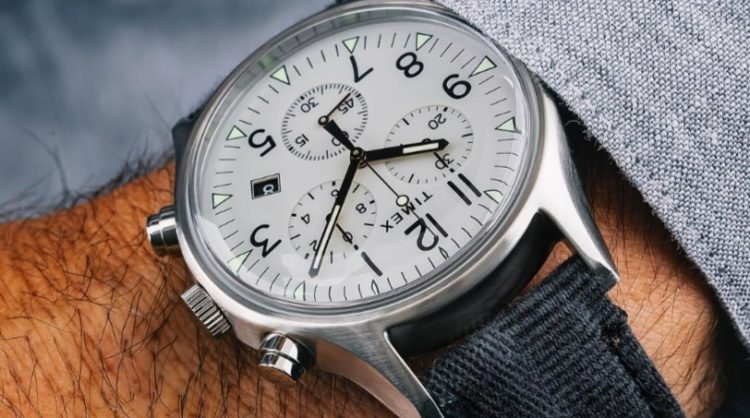 Timex MK1 Steel Watch With White Dial