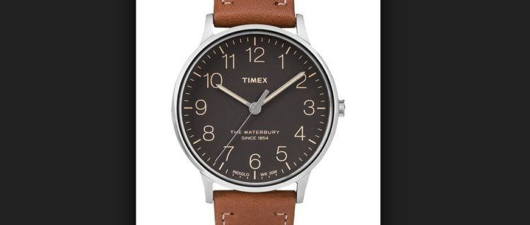 Timex Men's Classic Genuine Leather Watch
