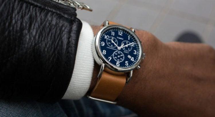 Timex Men's Weekender Tan Leather Strap AnalogWatch