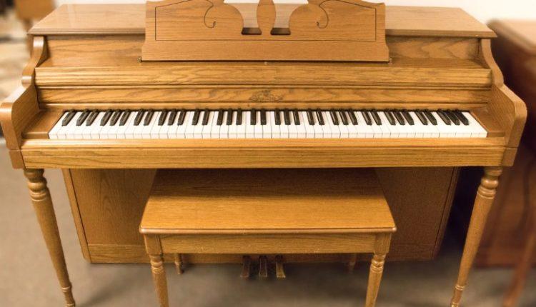 Wurlitzer Light Oak Spinet Piano