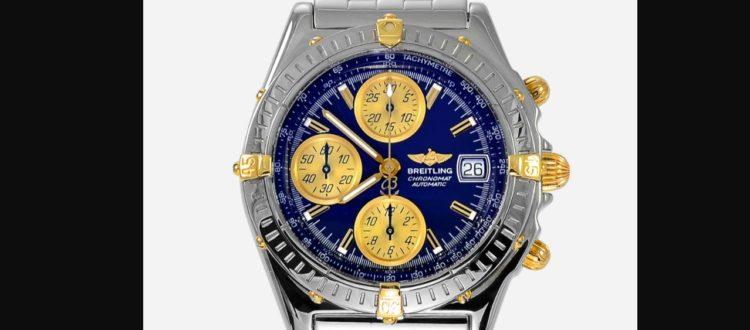 breitling chronomat b13050 blue