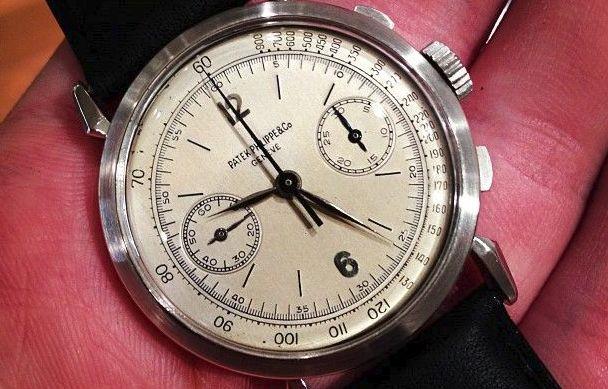 1946 Patek Philippe Rare Platinum Chronograph Ref 1579