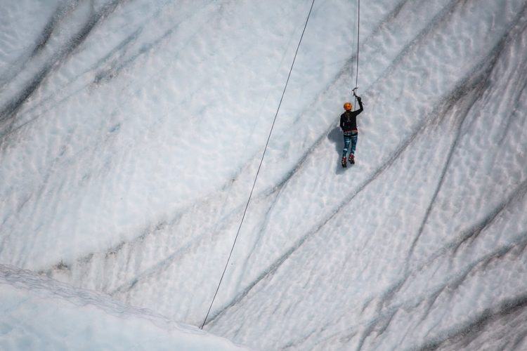 Ice Climbing on the Root Glacier