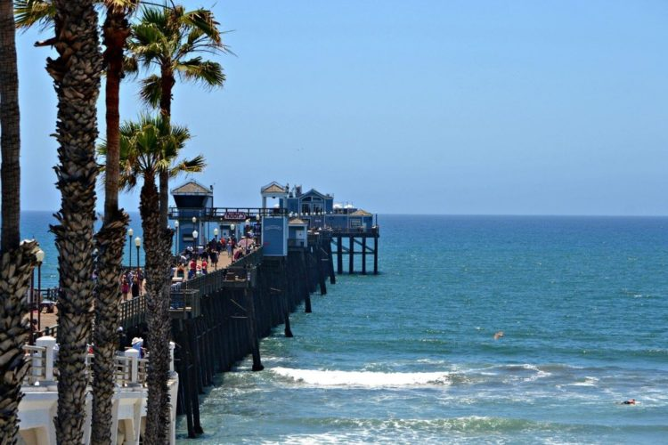 Oceanside Municipal Pier in San Diego