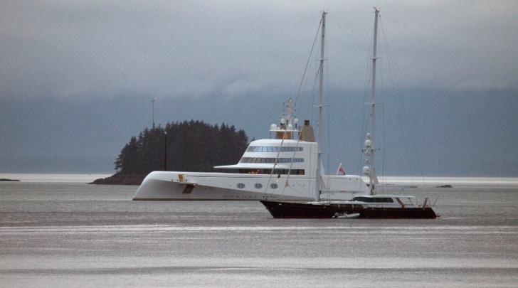 Yacht in Alaska