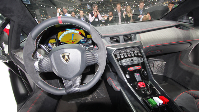 Veneno Roadster Interior