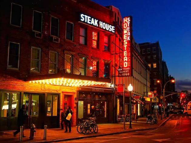 Exterior of Old Homestead Steakhouse NYC