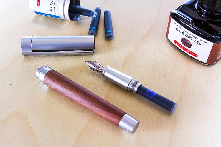 Staedtler Initium Lignum Fountain Pen - Plum Wood - Broad Nib