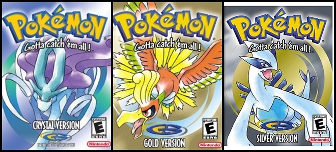 Pokemon Gold Silver and Crystal