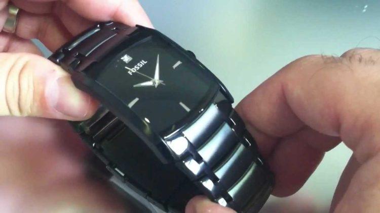 Fossil Men's Black IP Stainless Steel Watch