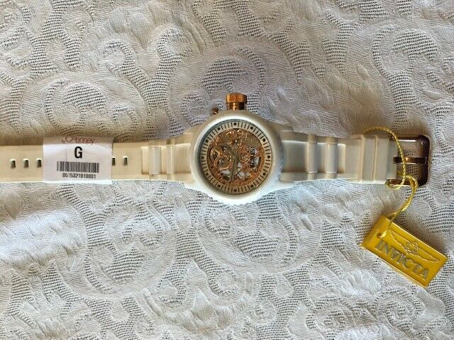 Invicta 1090 Russian Diver Rose Gold-tone Skeleton Watch