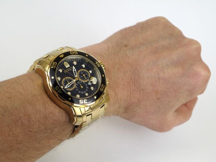 Invicta Men's 0072 Pro Diver Chronograph 18k gold plated