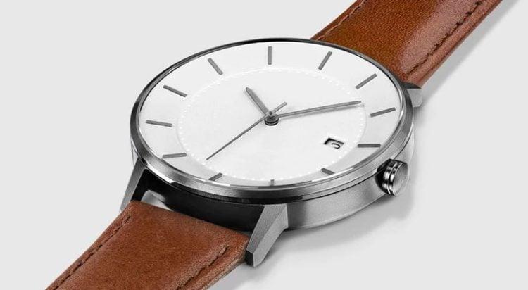 MVMT Classic Watches Analog Minimalist Watch in Black Tan