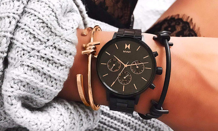 MVMT Gold Brown Leather Women's
