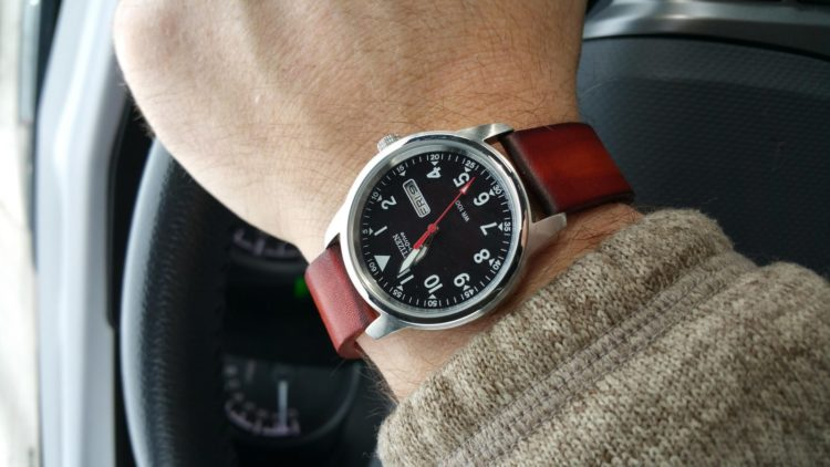 The Eco-Drive Military Leather Strap Citizen Watch