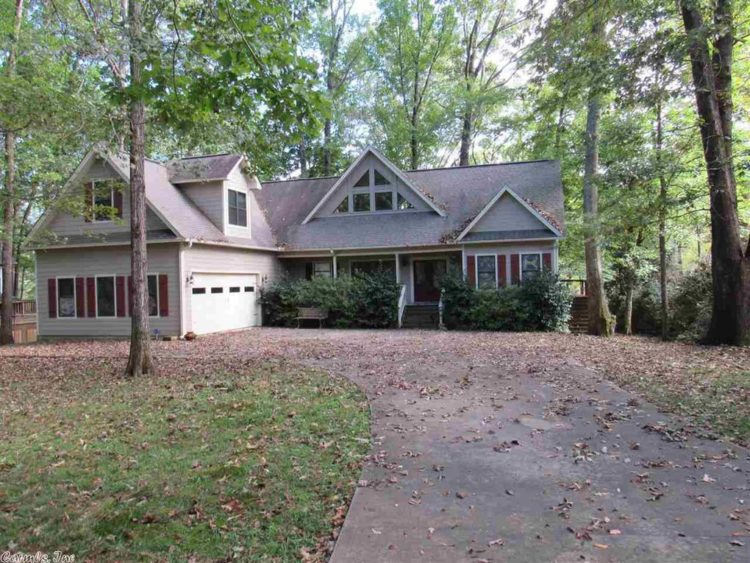 wooded Arkansas house