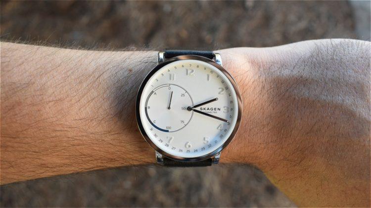 Skagen Signatur Connected Leather Hybrid Smart Watch