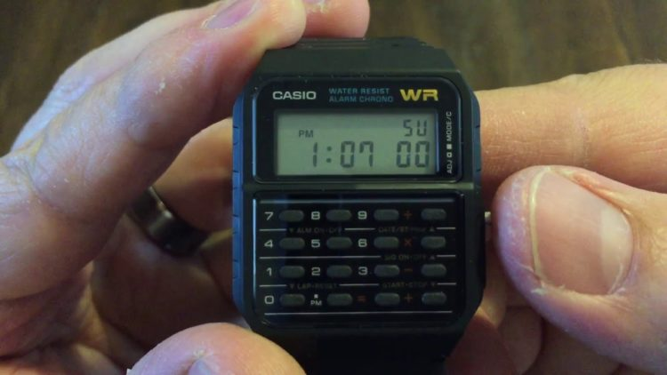 The Casio CA53W-1 Databank Watch