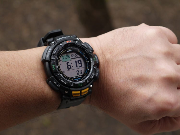 The Casio PAG240-1CR Men's Pathfinder