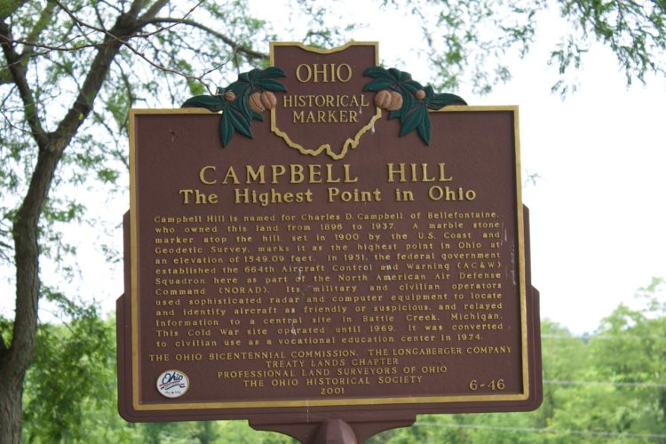 Campbell Hill, Bellefontaine, Ohio