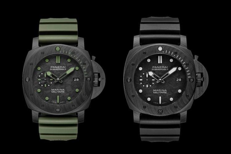 Panerai Submersible Marina Militare Carbotech Watch