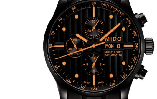 Mido Multifort Chronograph Black Dial Black