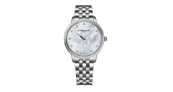 Raymond Weil Women's Jasmine Leather Mother of Pearl