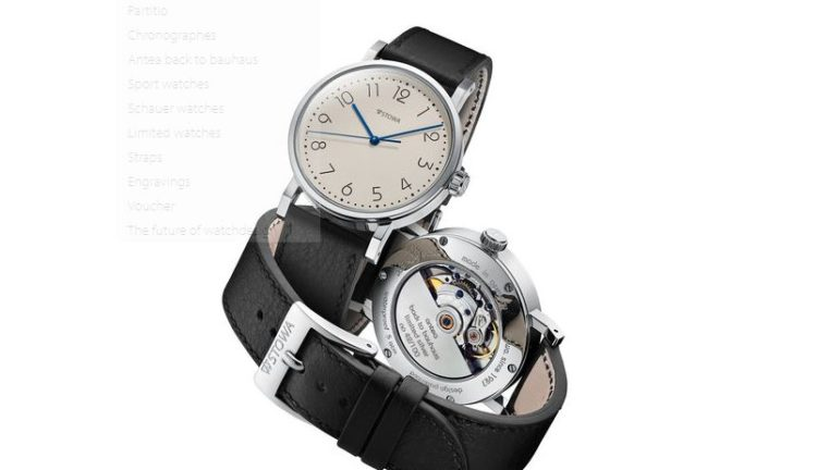 Stowa Antea Back to Bauhaus 390 Limited Silver Watch