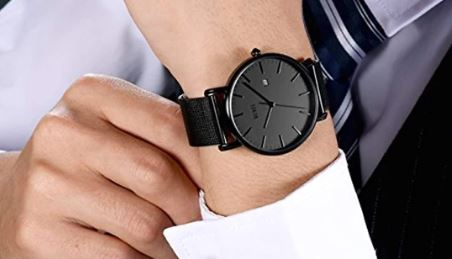 BUREI Men's Fashion Minimalist Wrist Watch