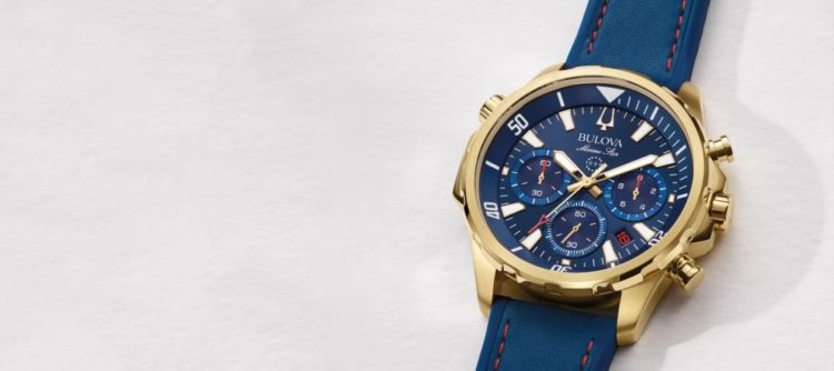Bulova Men's Strap Blue Watch