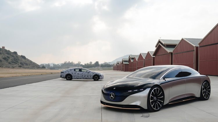Mercedes Benz's Production EQS Electric Flagship