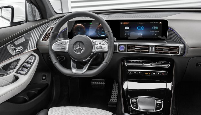 Mercedes Benz's Production EQS Electric Flagship interior