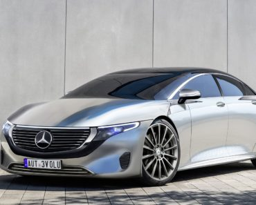Mercedes Benz's Production EQS Electric Flagship side