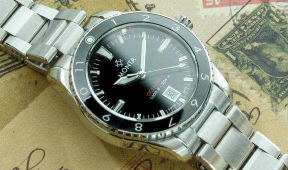 Monta Oceanking 12-hour with date metal bracelet