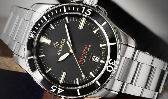 Monta Oceanking 60-Minute Bezel With Date