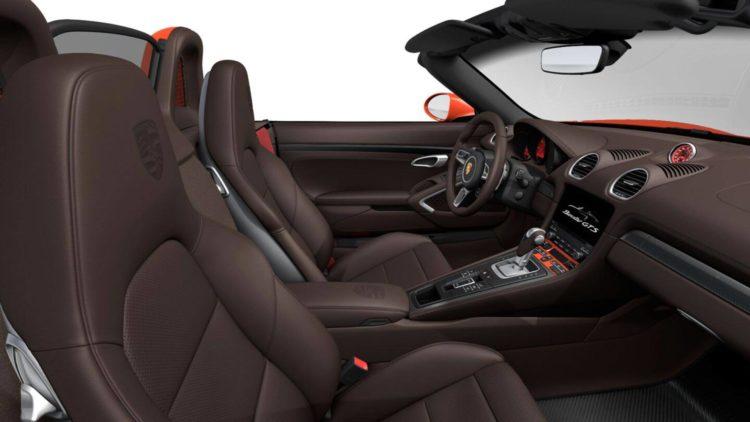 Porsche Boxster 718 GTS interior 2