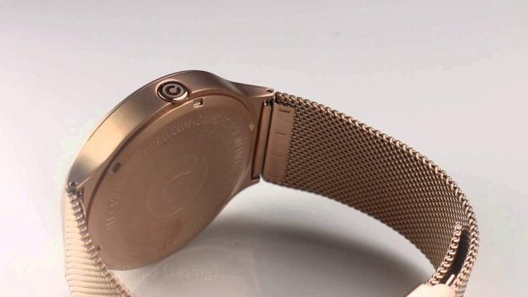 Ziiiro Eclipse Metallic Mesh Rose Gold Watch