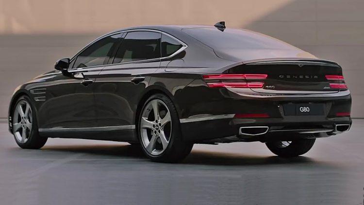2021 Genesis G80 back