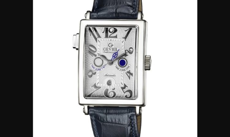 Gevril 5850 Men's Avenue of Americas Serenade Silver Dial Leather Watch