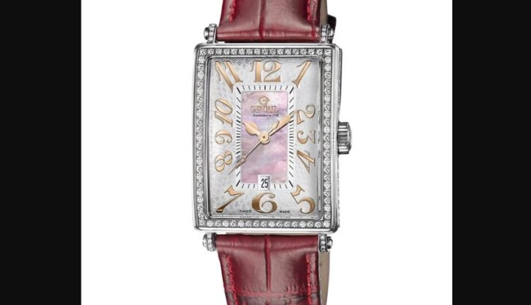 Gevril 6208RV Women's Avenue of Americas Glamour MOP Dial Leather Watch