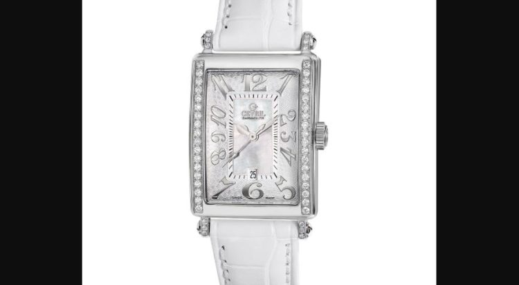 Gevril 7249NV Women's Avenue of Americas Mini MOP Dial Leather Watch