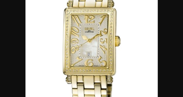 Gevril 9444YLB Women's Mezzo White MOP Dial Stainless Steel Watch