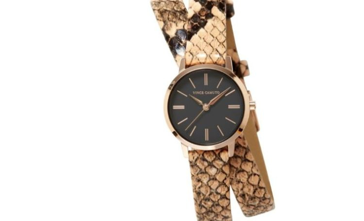 Vince Camuto's Woman's Wrap Around Faux Snake Print Watch
